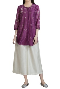 chanderi-floral-printed-tunic