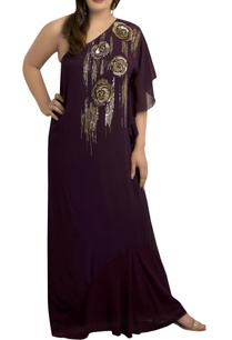 one-shoulder-kaftan-gown-with-sequin