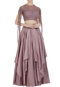 layered-lehenga-with-patti-sleeves-blouse