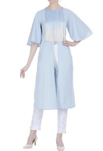 flared-sleeves-tassel-tunic