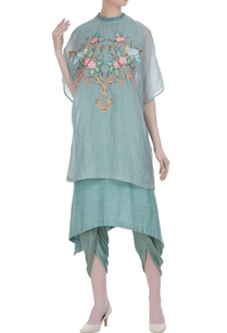 hand-embroidered-cape-with-kurta-and-dhoti-pants