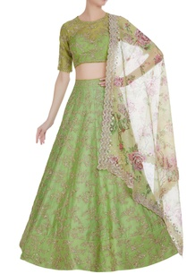 organza-sequin-embroidered-lehenga-set