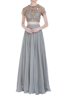 embroidered-blouse-with-pleated-lehenga