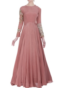anarkali-gown-with-embroidered-sleeves