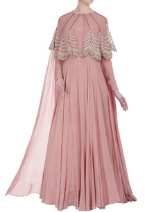 floor-length-gown-with-embroidered-cape