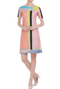 multicolour-mini-dress