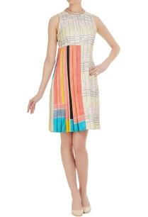 pleated-mini-dress