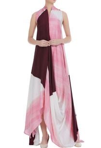 flared-maxi-dress-with-uneven-hemline