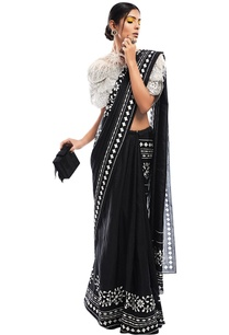 printed-sari-with-net-cape-bustier