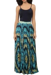 aqua-printed-pleated-maxi-skirt