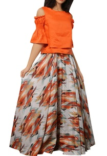 digital-printed-crepe-flared-maxi-skirt