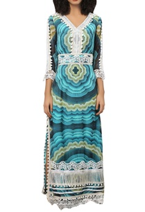 digital-printed-maxi-dress-with-tassels-lace