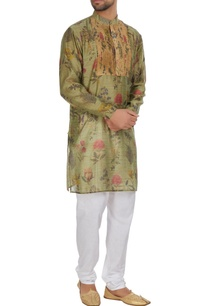 floral-print-kurta-with-pintucks