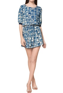 pure-silk-hand-block-printed-dress-with-ribbed-cuffs