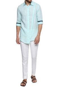 nautical-hued-button-down-cotton-shirt