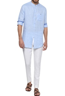 linen-button-down-shirt-with-mandarin-collar
