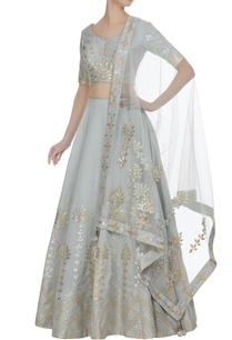 gota-embroidered-lehenga-with-choli-and-net-dupatta