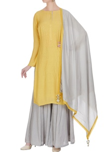 cotton-silk-kurta-with-sharara-pants-and-dupatta