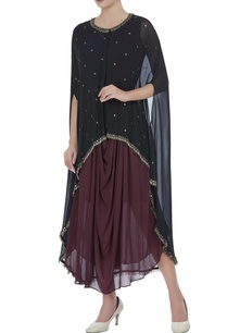 sheer-cape-tunic-with-bugle-bead-embroidery