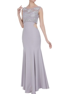 mermaid-fit-cutout-gown-with-tulle-top