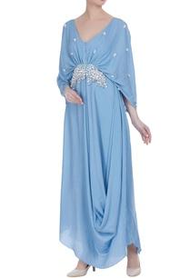 draped-style-sequin-tassel-maxi-dress