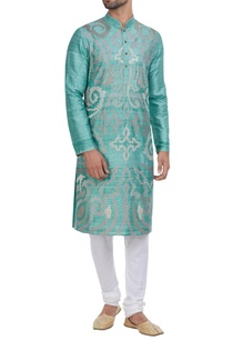 threadwork-kurta-with-churidar