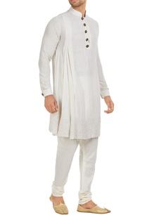 matka-silk-draped-kurta-set