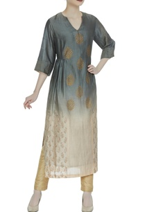 ombre-style-kurta-with-block-print