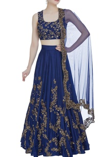 raw-silk-sequin-embroidered-lehenga-set