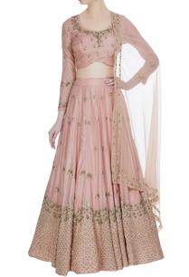 raw-silk-sequin-embroidered-bridal-lehenga-set