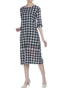 gingham-check-hand-embroidered-dress