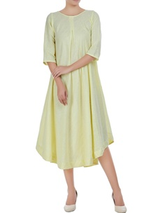 asymmetric-hand-woven-linen-dress