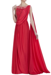 hand-embroidered-cutdana-sequin-draped-gown