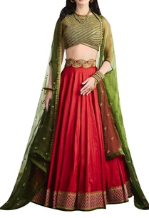 embroidered-blouse-with-lehenga-and-cape