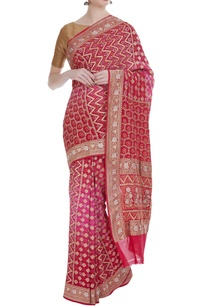 pure-georgette-hand-dyed-bandhani-sari-with-unstitched-blouse