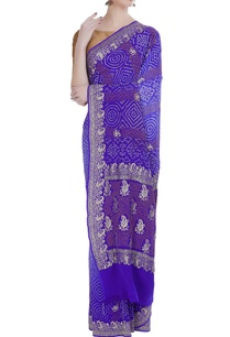pure-georgette-brocade-sari-with-unstitched-blouse
