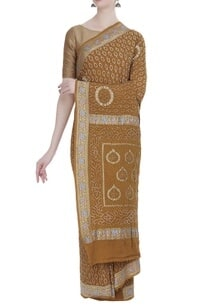 pure-georgette-hand-woven-sari-with-unstitched-blouse