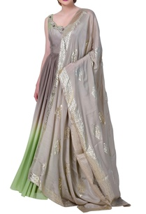 shaded-long-kurti-with-heavy-embroidered-dupatta