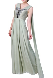 front-pleated-embroidered-jumpsuit-with-attached-back-drape