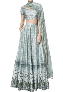 floral-printed-chanderi-silk-lehenga-set