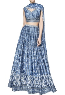 printed-chanderi-silk-sequin-lehenga-set