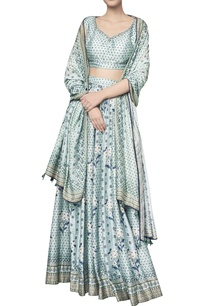 digital-floral-vine-printed-chanderi-silk-lehenga-set