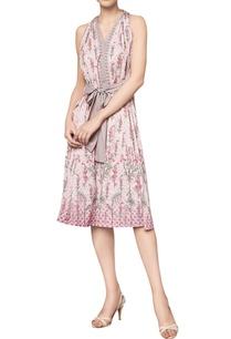 digital-printed-floral-tie-up-dress