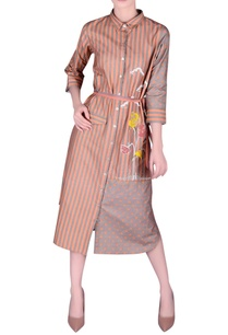khadi-striped-shirt-dress