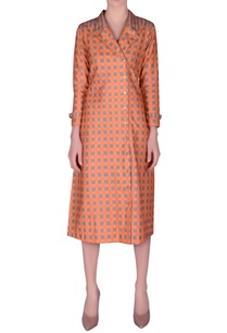 khadi-check-printed-jacket-dress