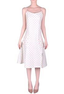 polka-dot-pattern-slip-dress