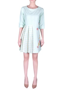 bead-embroidered-pleated-mini-dress