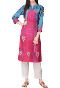 dual-color-mughal-inspired-tunic