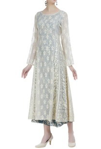 aari-embroidered-tunic-with-printed-kurta