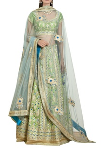 raw-silk-gota-embroidered-lehenga-set
